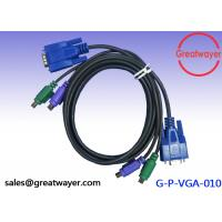 Braid Wire Harness Cable HDB 15M+MD 6MX2 TO HDB 15F+MD 6MX2 Cable For Computer and keyboard Manufactures