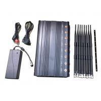 China Cell Phone WIFI GPS Signal Jammer 2G 3G 4G 8 Bands With Excellent Cooling System on sale