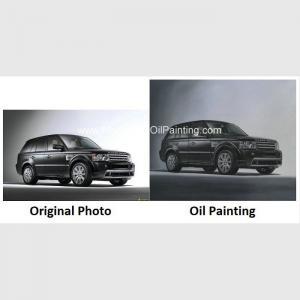 Custom Car Portraits , Oil Portraits From Photographs Range Rover Car Manufactures