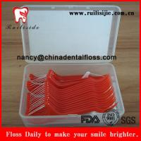 China dental flosser 50 pcs dental floss picks per box white+red wholesale