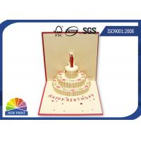 Customized 3D Festival Greeting Cards Happy Cake for Birthday Pop Up Card Manufactures