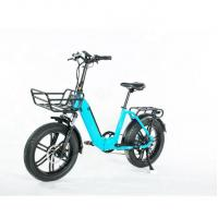 Light Weight 20 Inch Folding Electric Bike , Collapsible E Bike With Basket Manufactures
