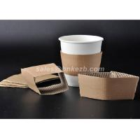 China Disposable Paper Cup Accessories Cardboard Paper Sleeves For Coffee Cups on sale
