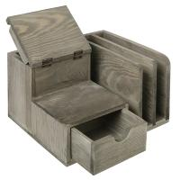 Modern Student Tabletop Organizer With Drawers / Three Slots / A Cup