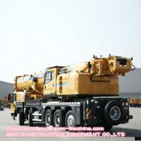 Quality Mobile Telescopic Truck Crane 100 Ton XCT100 Max. Lifting Height  92.6 Yellow Color for sale