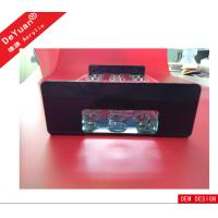 OEM Accepted 100% Virgin Rectangle Black Tabletop Acrylic Holder Stand In Bar Manufactures