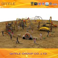 Kids Physical Activity Equipment Climbing , Childrens Climbing Rope Nets With Arch Bridge Manufactures