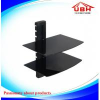China 360*250mm double layer DVD wall mount with 5mm thickness glass/black and clear glass are availabe on sale