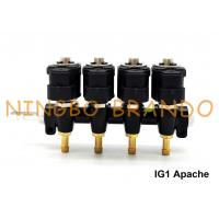 IG1 Apache OMB Type LPG / CNG Rail Injectors HD 4 Cylinders 3 Ohms DC12V Manufactures