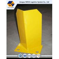 Yellow Rack Spare Parts Customized Metal Steel Post Protectors For Cantilever Storage Racks Manufactures