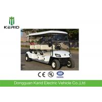 White Color 6 Passenger Electric Street Legal Golf Carts For Club Battery Powered Manufactures