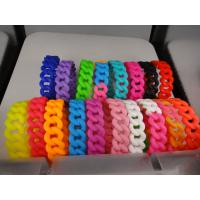 China 19mm width wholesale CUSTOM twist braided silicone bracelet, Personalized silicone bracelet on sale