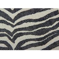 China Black And White Striped Plain Weave Fabric / Recycled Cotton Fabric Save Cost on sale