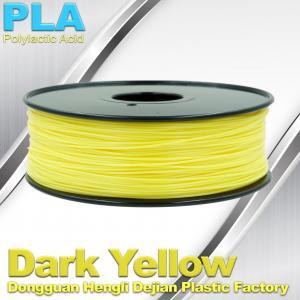 Makerbot Material Fluorescent Dark Yellow PLA 3d Printer Filament 1.75mm / 3.0mm Manufactures