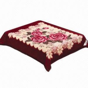 Raschel/mink blanket, weft or warp knitting, 220cm maximal width Manufactures