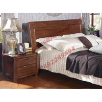 New American Style Solid Wood Bed with Wardrobe for Luxury Home Decoration Manufactures
