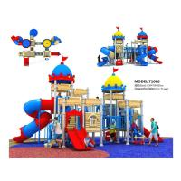 High End Residential Areas Childrens Outdoor Slide Plastic Play Structure With Slide Manufactures