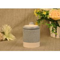 China Hand Made Ceramic Candle Jar Anti Thermal For Air Refreshment on sale