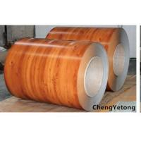 0.40 MM Thickness PPGL Steel Coil Wood Grain Color With High Acid / Alkali Resistance Manufactures