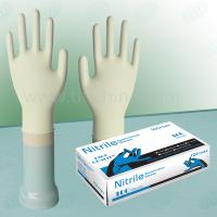 Ambidextrous Fully Textured Surface Nitrile Exam Gloves 240MM Length Manufactures