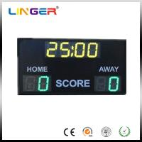 Outdoor 10'' 254mm Digit Green / Yellow Electronic Soccer Scoreboard Manufactures