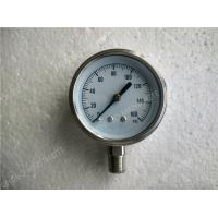 4( 100mm ) All Stainless Steel Lower Entry Dry Pressure Gauge , 0 160 psi Pressure Gaug Manufactures