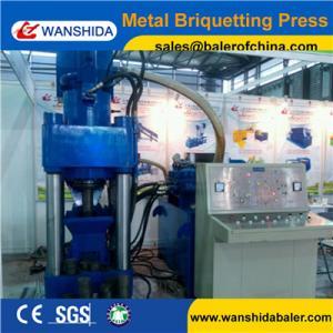 China WANSHIDA Y83-5000 Stock cheap scrap iron brass steel chip press aluminum briquette machine on sale