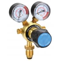 Light Duty Compressed Gas Pressure Regulator , CO2 Argon Gas Regulator With Flow Meter Manufactures