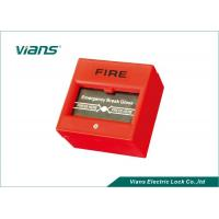 Red Break Glass Emergency Call Point , Emergency Door Release Button Manufactures