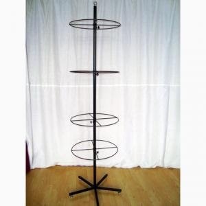 4 Layers Spinning POP Display Rack With 5 Legs Base Manufactures