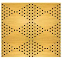 MDF Board Music Studio Acoustic Panels Perforation Wooden Timber Acoustic Wall Panels Manufactures