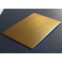 Quality 304 Rose Gold Stainless Steel Sheet Hotel Metal Project 304 2mm 1250MM 1500MM for sale