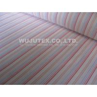 Plain weave Cotton Nylon Fabric / spandex stripe fabric with blue / yellowred / white Manufactures