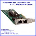 1G Dual Port Gigabit Server Ethernet Network Card, RJ-45 Connector, Femrice 10002ET Manufactures