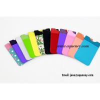 PU Smart Wallet stick on iphone wallet, stick on phone wallet, used for mobile phone Manufactures