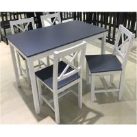 Simple Style Pine Wooden Dining Table Set with 4 Chairs Manufactures