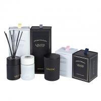 China Custom Luxury Classic Candle And Diffuser Set Frosted Soy Candle Gift Set on sale