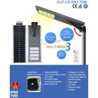 Waterproof IP65 Integrated 70W Solar LED Street Light  PIR and Remote Control for Sqaure Light Manufactures