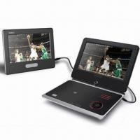 Portable DVD Player with Dual Screen and Holders for Cars Manufactures