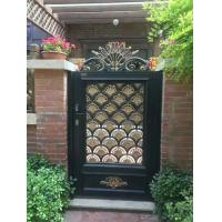 European Style Cast Iron Gates Single Entry Spray Paint For Architectural Manufactures
