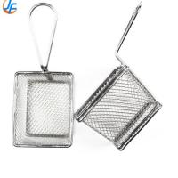 Durable Stainless Steel Fry Basket , Mesh Deep Fat Fryer French Fries Holder Basket Manufactures