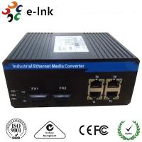 Quality Industrial Din-rail or wall mounting 4G + 2 SC Gigabit  Ethernet Switch for sale