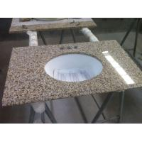 China Yellow Bathroom Countertop with sink for super market on sale
