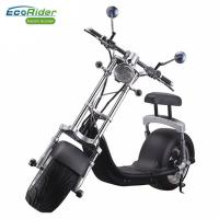 EcoRider 1200w 60v 12ah Chinese Lithium battery Balance Electric Scooter Citycoco Harley Scooter With Turning Lights Manufactures