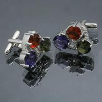 Cuff Links, Made of Brass, Available in Various Styles Manufactures