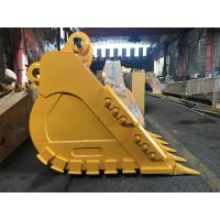 China Yellow Heavy Duty Excavator Bucket High Durability Superior Performance on sale