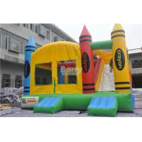 China PVC Tarpaulin Inflatable Combo , 5x4x3.6m Kids Inflatable Bounce House With Slide on sale