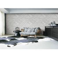 3D Grey Brick Effect Wall Covering Smoke Proof For Sitting Room , Modern Style Manufactures
