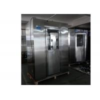 Standard Stainless Steel Vertical Air Shower Room With Top Side Air Flow Manufactures