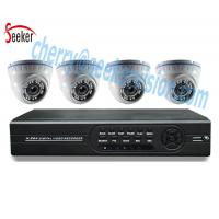 High resolution 1080p surveillance 4 channels security dvr kit system Night Vision Indoor Dome Cameras Manufactures